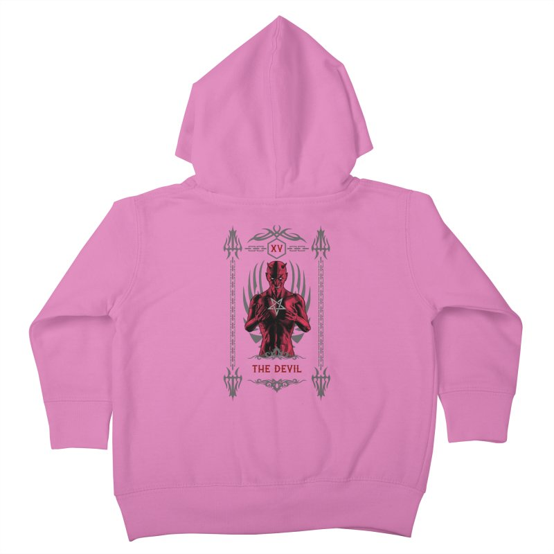 The Devil XV Tarot Card Kids Toddler Zip-Up Hoody by Grandio Design Artist Shop