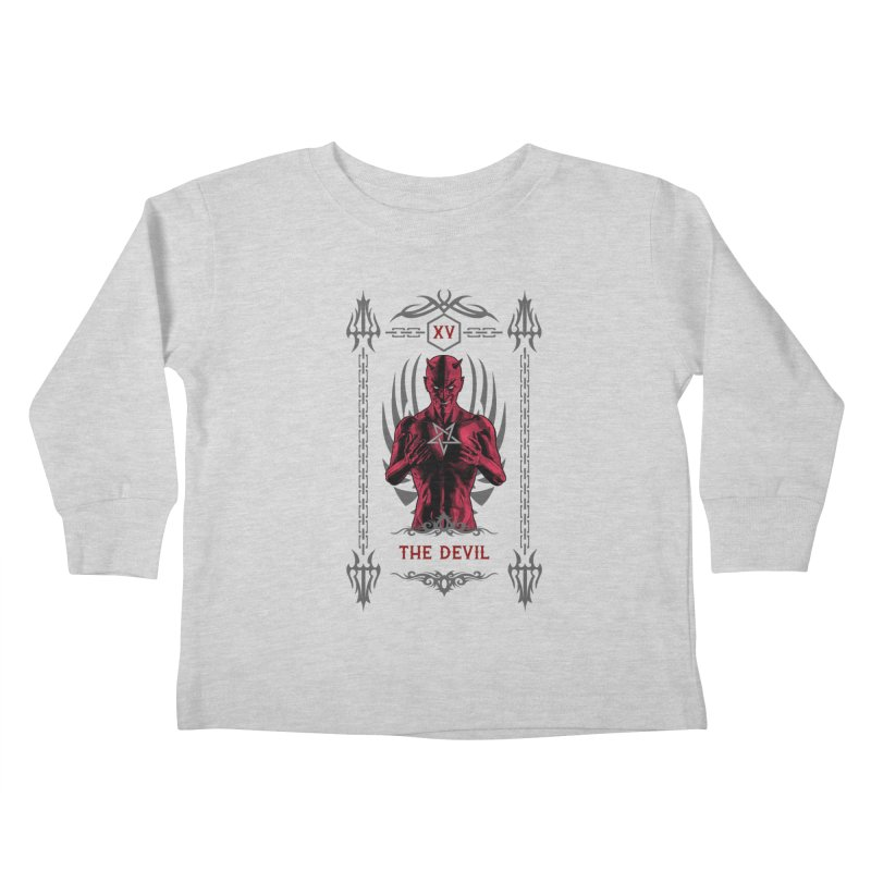 The Devil XV Tarot Card Kids Toddler Longsleeve T-Shirt by Grandio Design Artist Shop