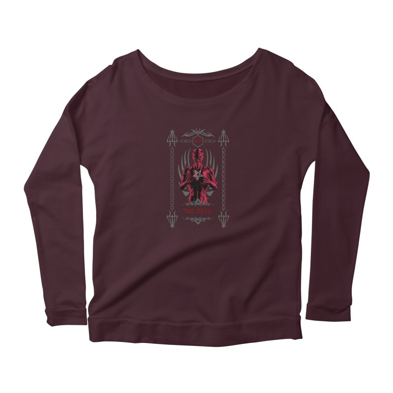 The Devil XV Tarot Card Women's Longsleeve T-Shirt by Grandio Design Artist Shop