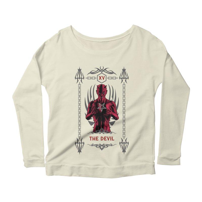 The Devil XV Tarot Card Women's Scoop Neck Longsleeve T-Shirt by Grandio Design Artist Shop