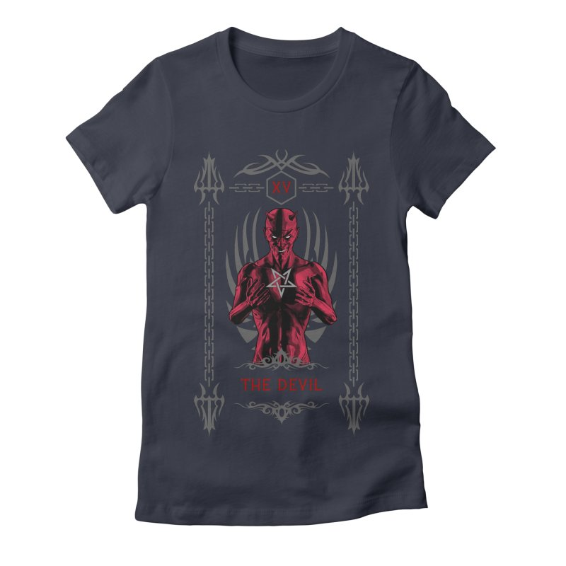 The Devil XV Tarot Card Women's Fitted T-Shirt by Grandio Design Artist Shop