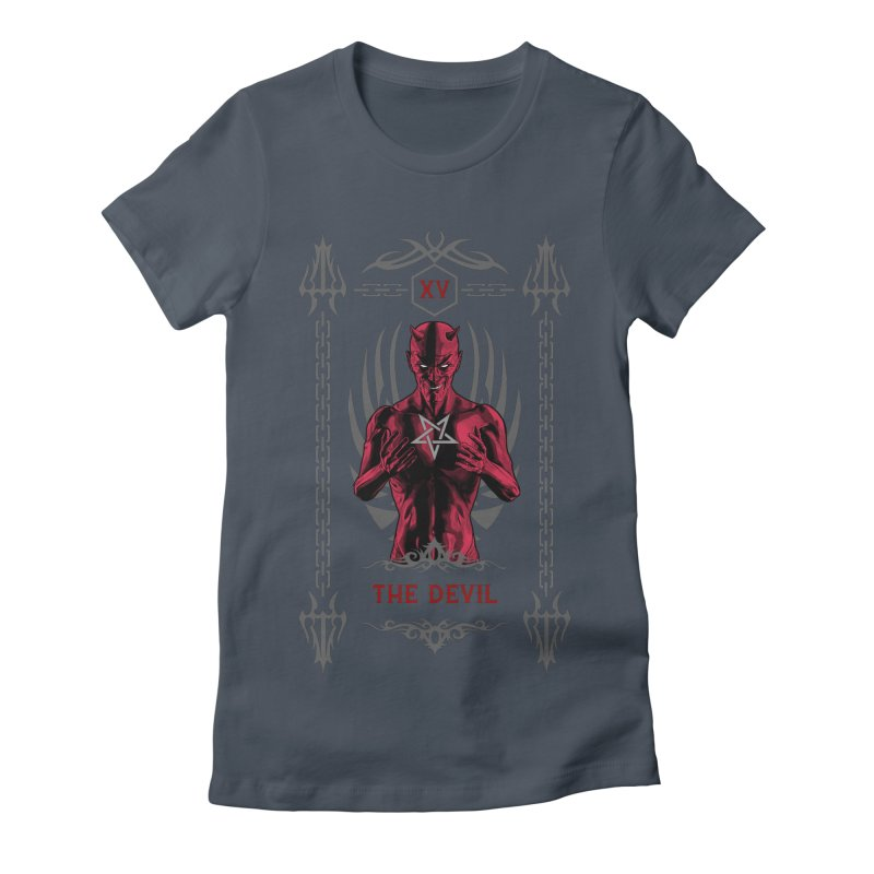 The Devil XV Tarot Card Women's Fitted T-Shirt by Grandio Design Artist Shop