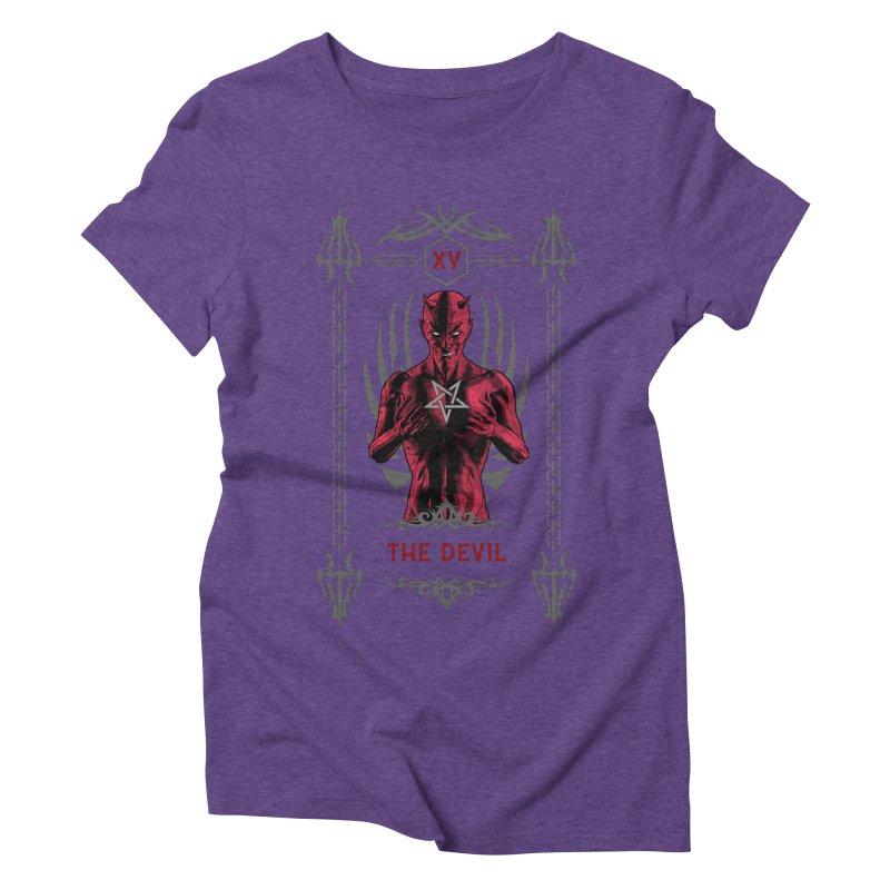 The Devil XV Tarot Card Women's Triblend T-Shirt by Grandio Design Artist Shop