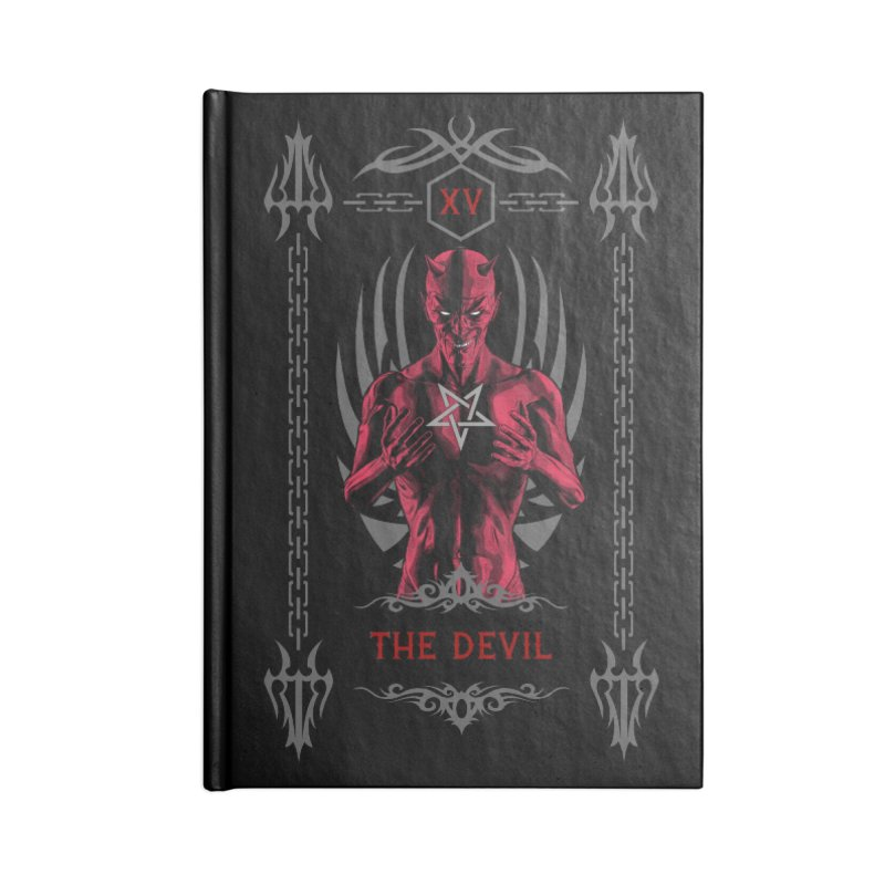 The Devil XV Tarot Card Accessories Notebook by Grandio Design Artist Shop