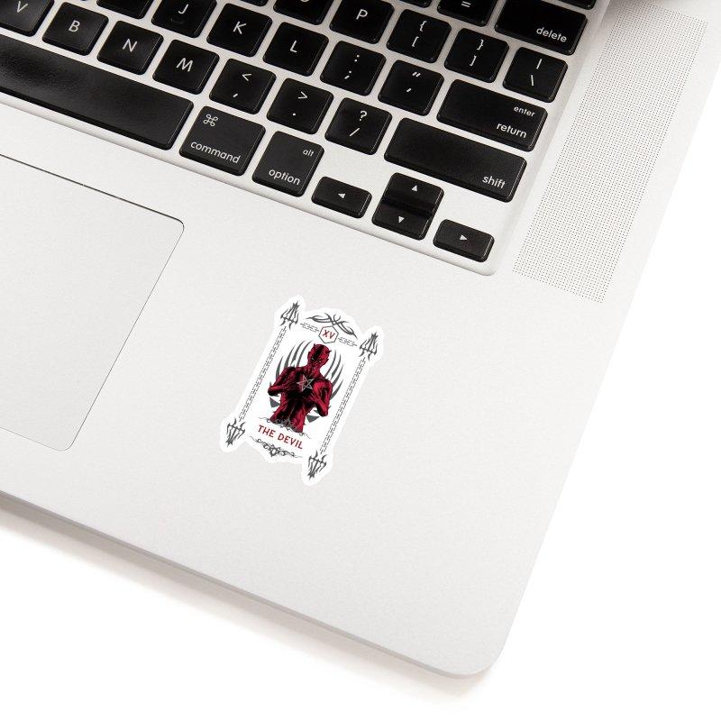 The Devil XV Tarot Card Accessories Sticker by Grandio Design Artist Shop