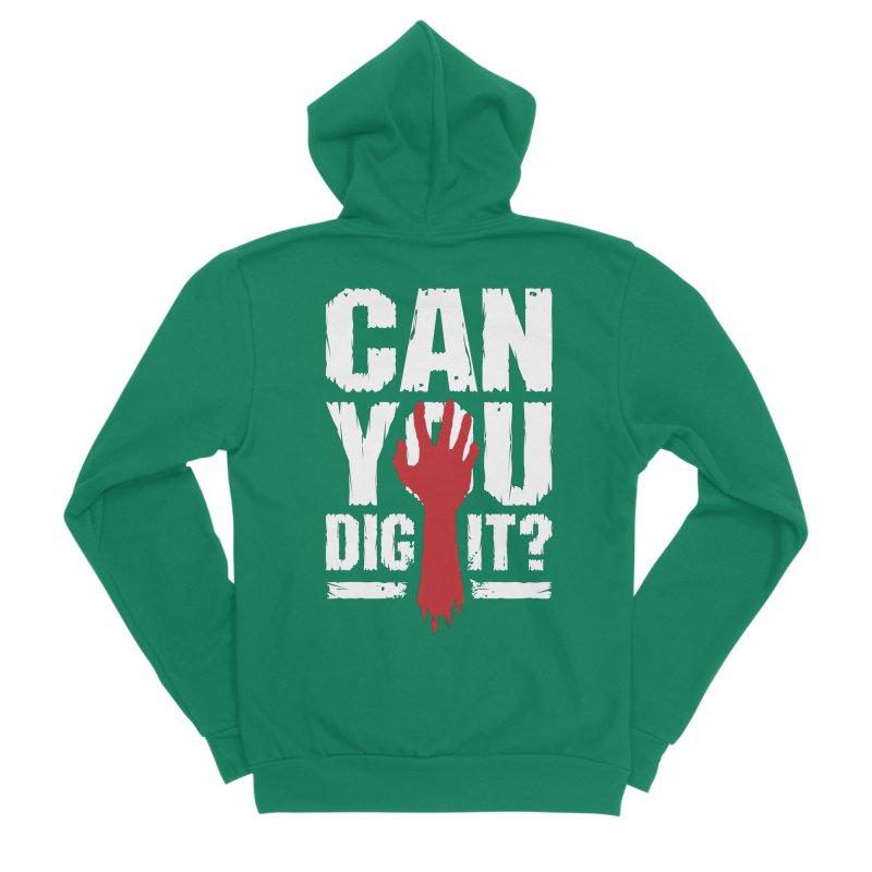 Can You Dig It? Funny Zombie Halloween Men's Sponge Fleece Zip-Up Hoody by Grandio Design Artist Shop