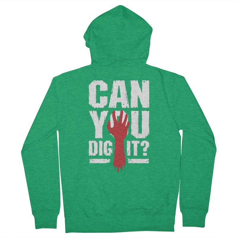Can You Dig It? Funny Zombie Halloween Men's Zip-Up Hoody by Grandio Design Artist Shop