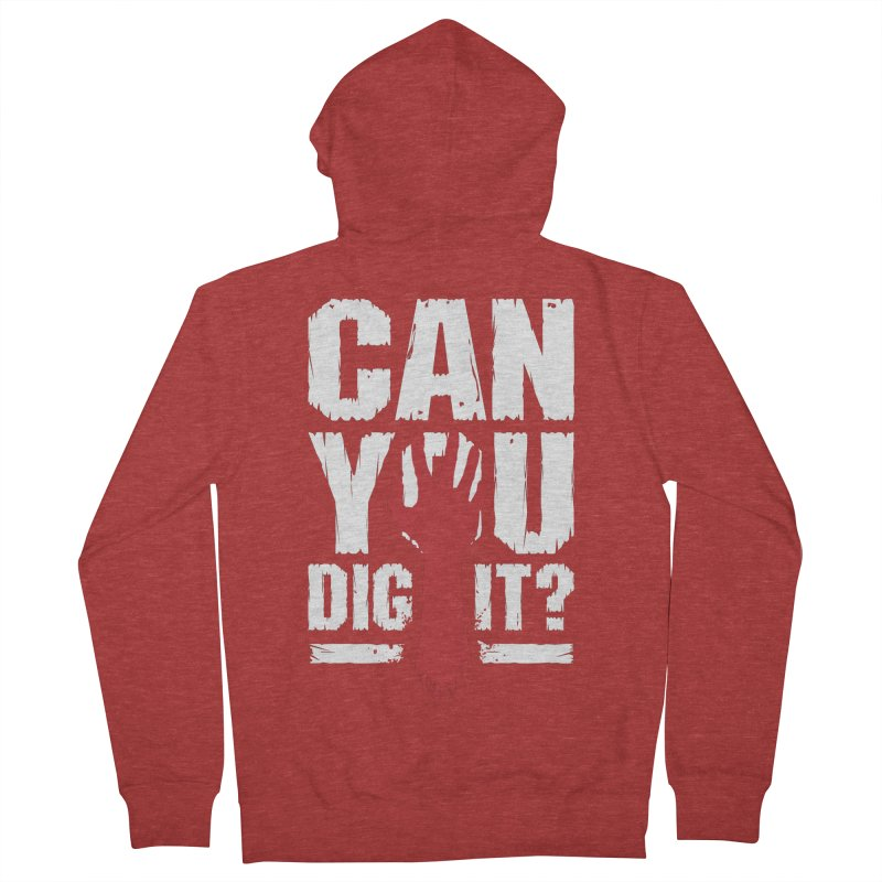 Can You Dig It? Funny Zombie Halloween Men's French Terry Zip-Up Hoody by Grandio Design Artist Shop
