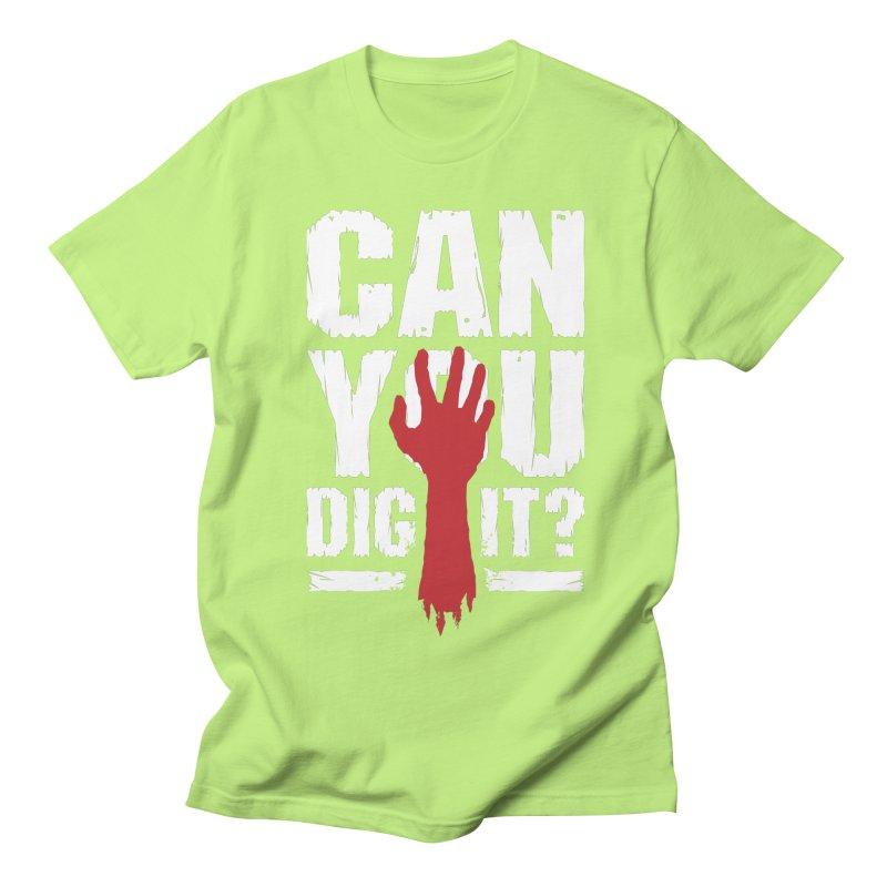 Can You Dig It? Funny Zombie Halloween Men's Regular T-Shirt by Grandio Design Artist Shop