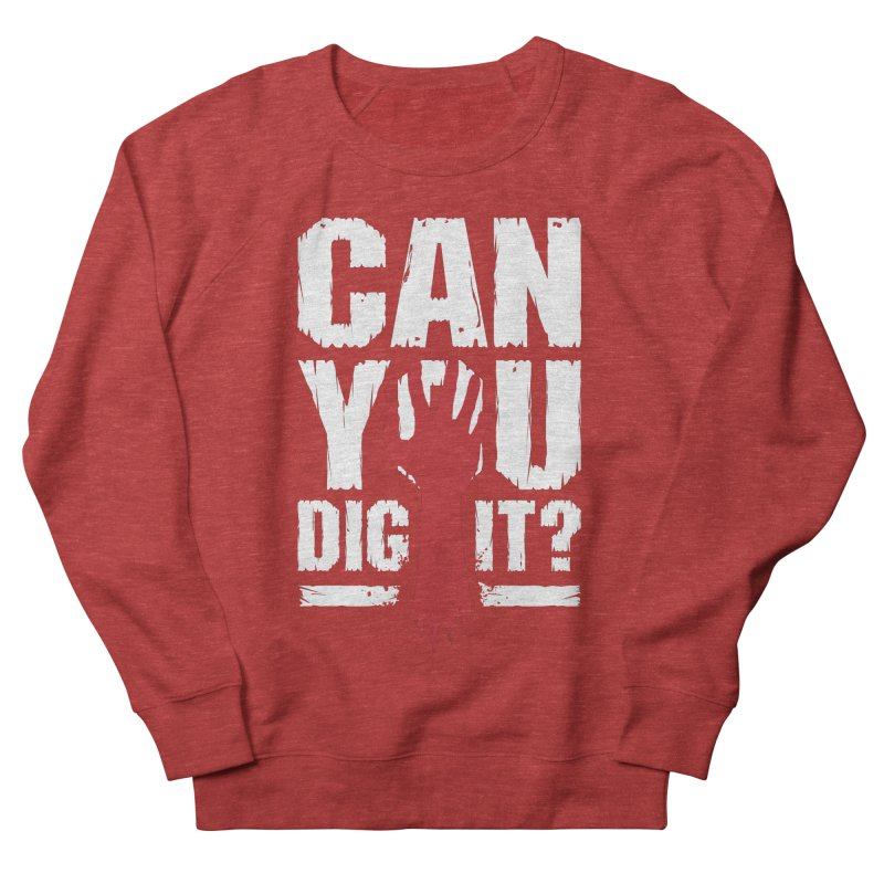 Can You Dig It? Funny Zombie Halloween Men's French Terry Sweatshirt by Grandio Design Artist Shop