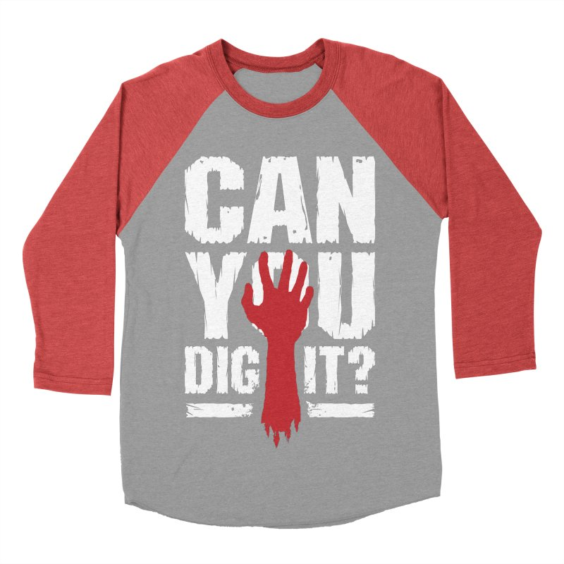 Can You Dig It? Funny Zombie Halloween Women's Baseball Triblend Longsleeve T-Shirt by Grandio Design Artist Shop