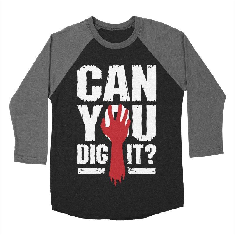 Can You Dig It? Funny Zombie Halloween Women's Baseball Triblend Longsleeve T-Shirt by Grandio Design Artist Shop