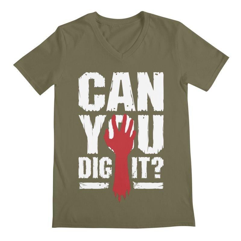 Can You Dig It? Funny Zombie Halloween Men's Regular V-Neck by Grandio Design Artist Shop