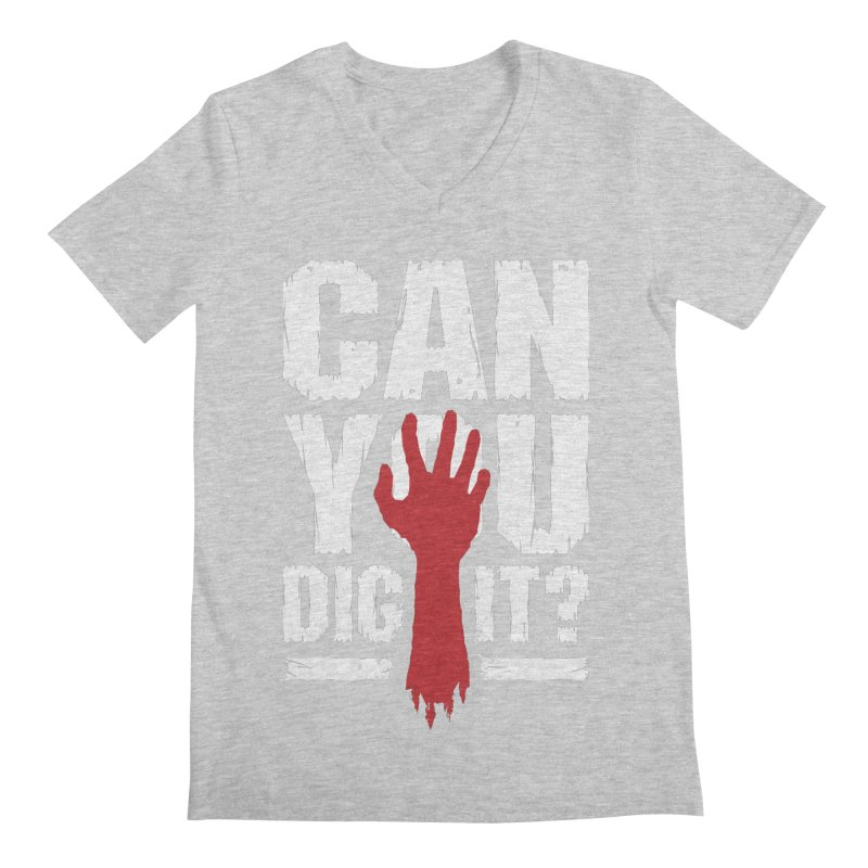 Can You Dig It? Funny Zombie Halloween Men's Regular V-Neck by Grandio Design Artist Shop