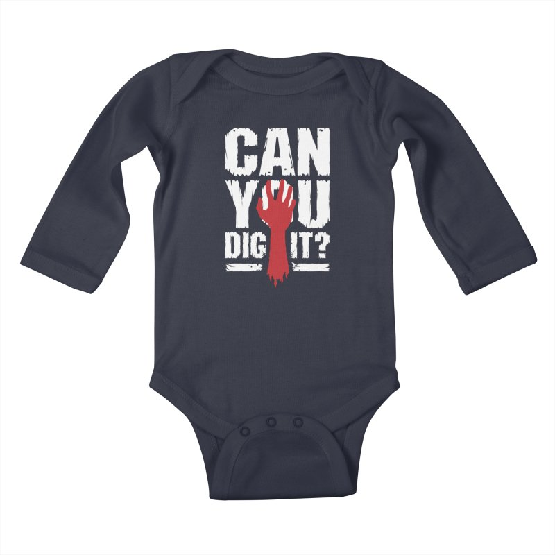 Can You Dig It? Funny Zombie Halloween Kids Baby Longsleeve Bodysuit by Grandio Design Artist Shop