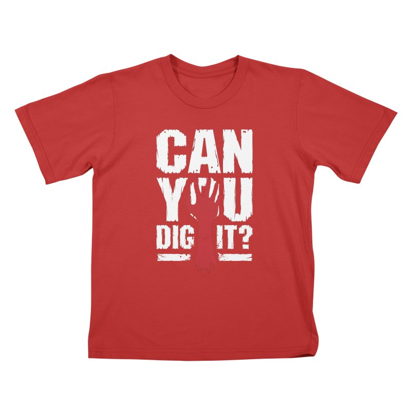 Can You Dig It? Funny Zombie Halloween Kids T-Shirt by Grandio Design Artist Shop