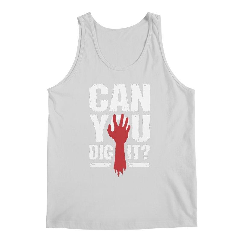 Can You Dig It? Funny Zombie Halloween Men's Regular Tank by Grandio Design Artist Shop