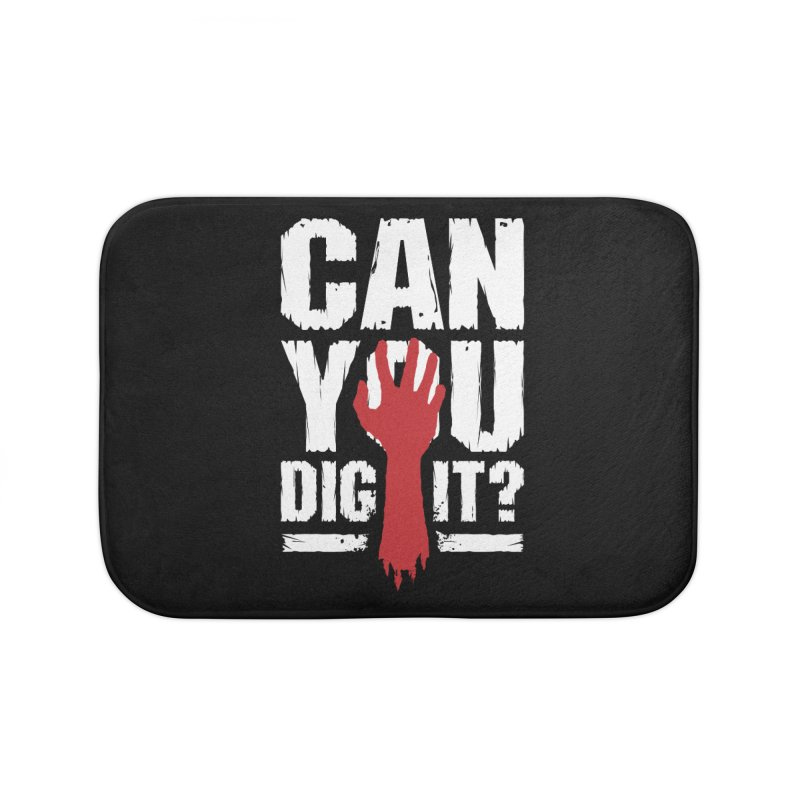 Can You Dig It? Funny Zombie Halloween Home Bath Mat by Grandio Design Artist Shop