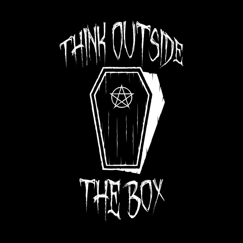 Think Outside The Box Goth Coffin Humour Men's T-Shirt by Grandio Design Artist Shop