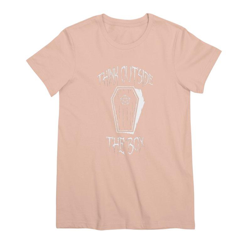 Think Outside The Box Goth Coffin Humour Women's Premium T-Shirt by Grandio Design Artist Shop