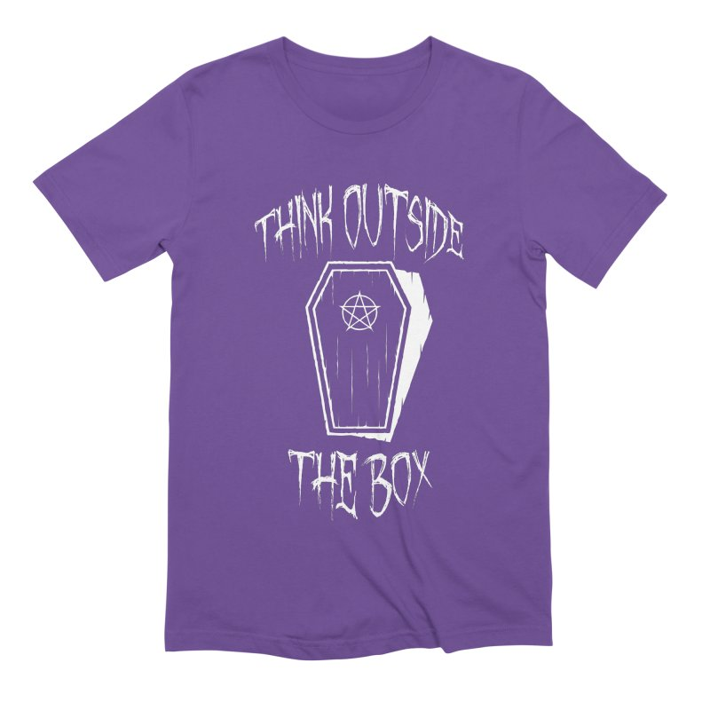 Think Outside The Box Goth Coffin Humour Men's Extra Soft T-Shirt by Grandio Design Artist Shop