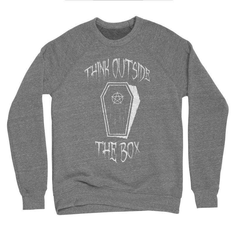 Think Outside The Box Goth Coffin Humour Men's Sponge Fleece Sweatshirt by Grandio Design Artist Shop