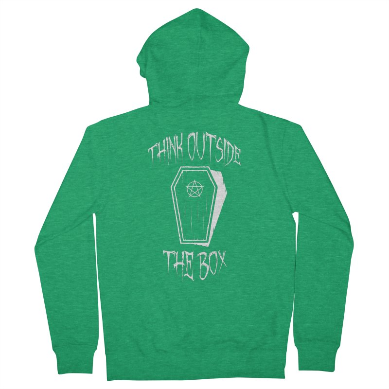 Think Outside The Box Goth Coffin Humour Women's Zip-Up Hoody by Grandio Design Artist Shop