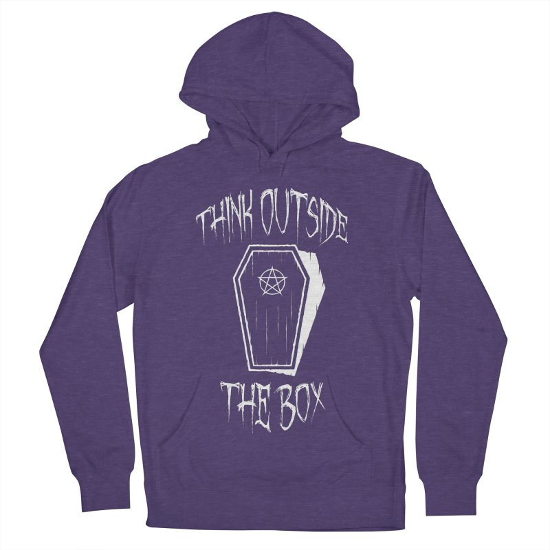 Think Outside The Box Goth Coffin Humour Women's French Terry Pullover Hoody by Grandio Design Artist Shop