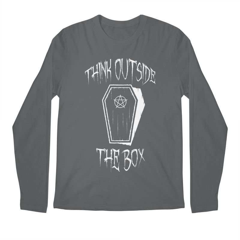 Think Outside The Box Goth Coffin Humour Men's Longsleeve T-Shirt by Grandio Design Artist Shop
