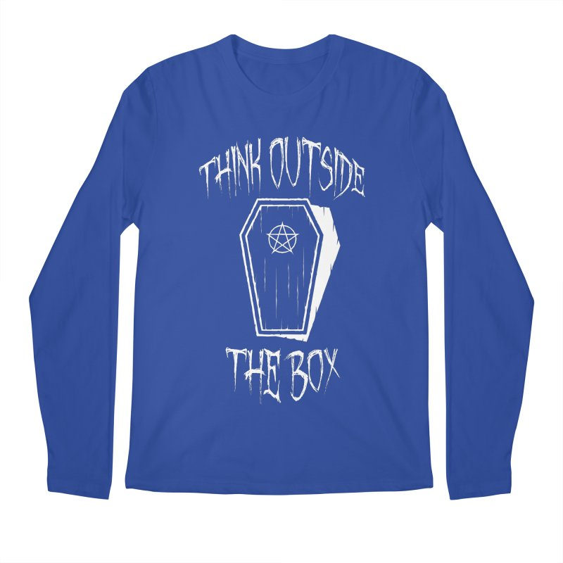 Think Outside The Box Goth Coffin Humour Men's Regular Longsleeve T-Shirt by Grandio Design Artist Shop