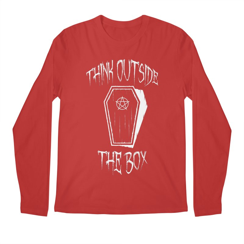 Think Outside The Box Goth Coffin Humour Men's Regular Longsleeve T-Shirt by Grandio Design Artist Shop