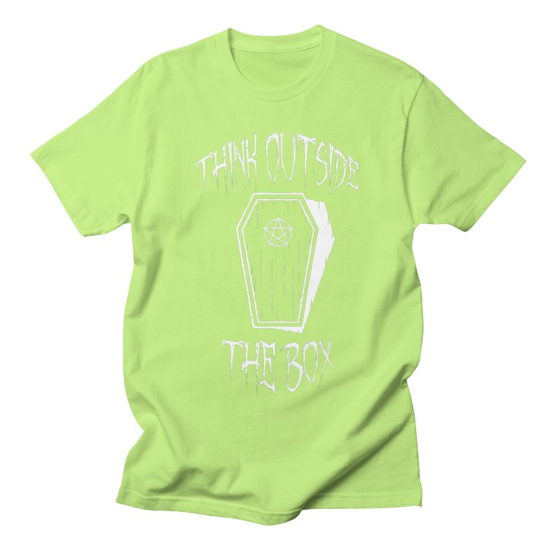 Think Outside The Box Goth Coffin Humour Men's Regular T-Shirt by Grandio Design Artist Shop