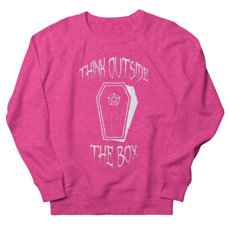 Think Outside The Box Goth Coffin Humour Men's French Terry Sweatshirt by Grandio Design Artist Shop