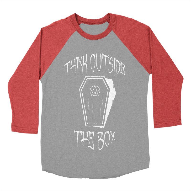 Think Outside The Box Goth Coffin Humour Women's Baseball Triblend Longsleeve T-Shirt by Grandio Design Artist Shop