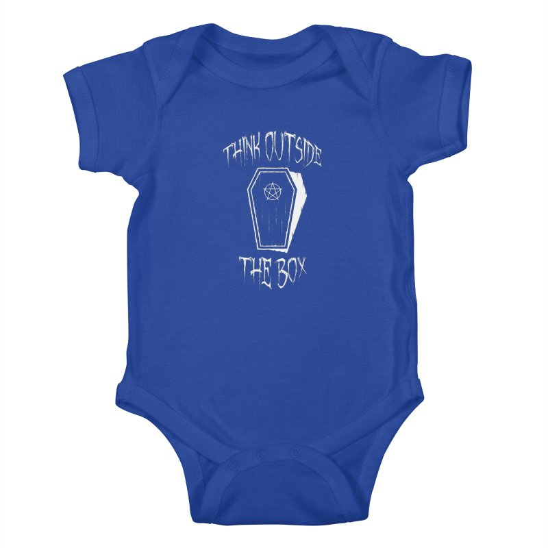 Think Outside The Box Goth Coffin Humour Kids Baby Bodysuit by Grandio Design Artist Shop