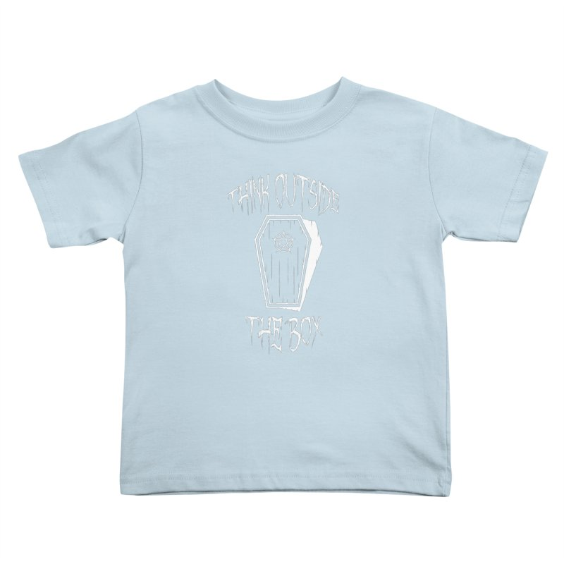 Think Outside The Box Goth Coffin Humour Kids Toddler T-Shirt by Grandio Design Artist Shop