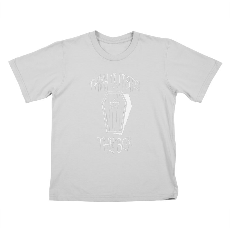 Think Outside The Box Goth Coffin Humour Kids T-Shirt by Grandio Design Artist Shop