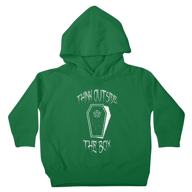 Think Outside The Box Goth Coffin Humour Kids Toddler Pullover Hoody by Grandio Design Artist Shop