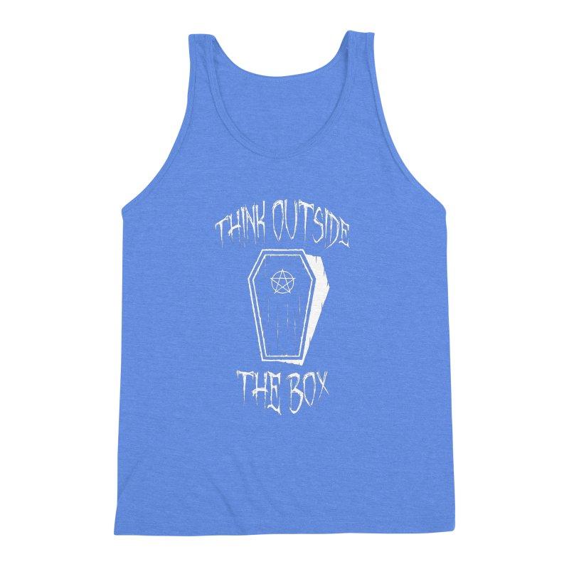Think Outside The Box Goth Coffin Humour Men's Triblend Tank by Grandio Design Artist Shop