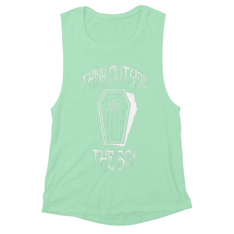 Think Outside The Box Goth Coffin Humour Women's Muscle Tank by Grandio Design Artist Shop
