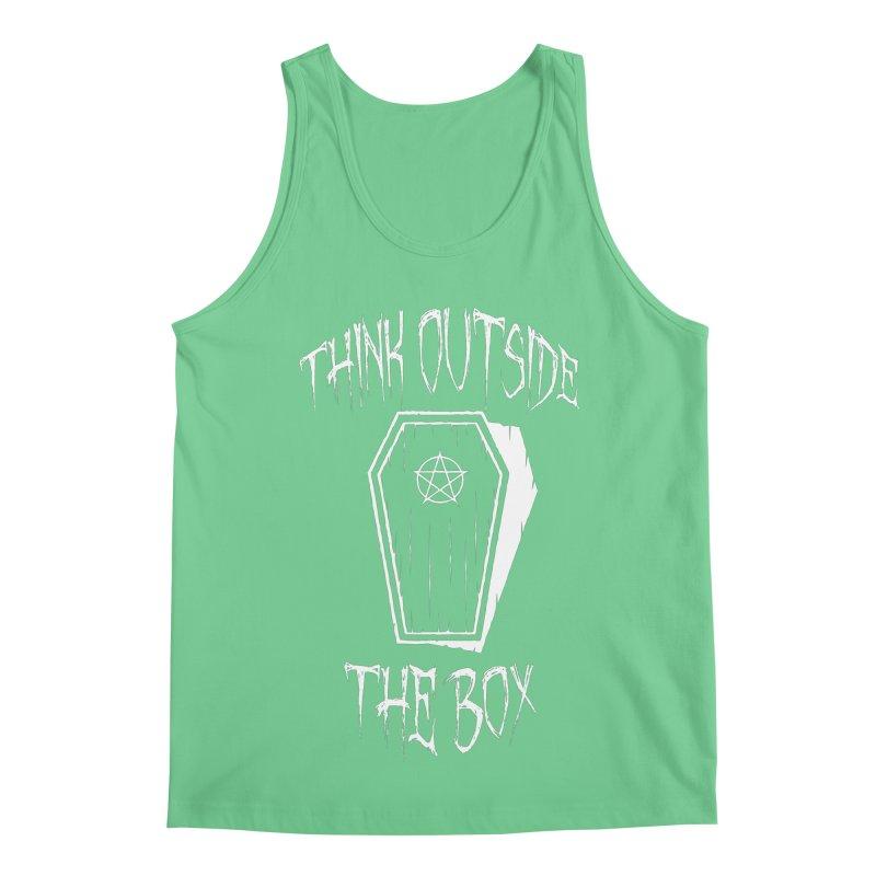 Think Outside The Box Goth Coffin Humour Men's Regular Tank by Grandio Design Artist Shop