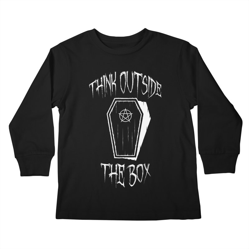 Think Outside The Box Goth Coffin Humour Kids Longsleeve T-Shirt by Grandio Design Artist Shop