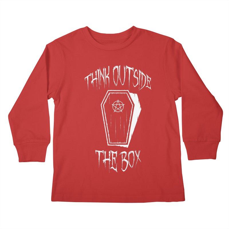 Think Outside The Box Goth Coffin Humour Kids Longsleeve T-Shirt by Grandio Design Artist Shop