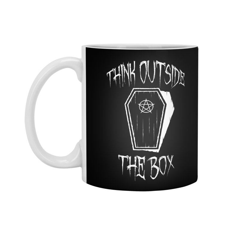 Think Outside The Box Goth Coffin Humour Accessories Mug by Grandio Design Artist Shop