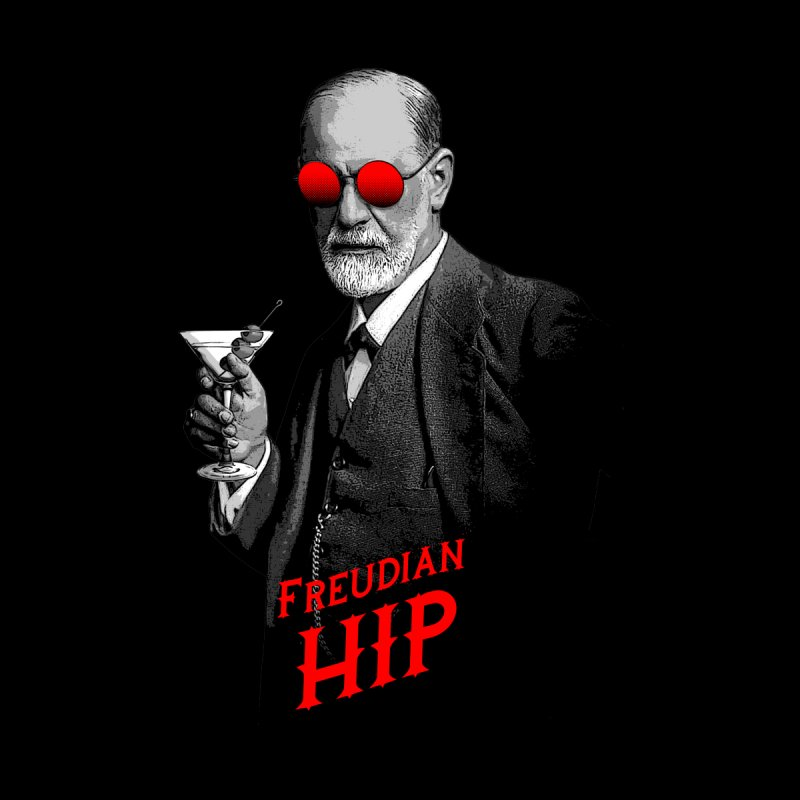 Hipster Psychologist Sigmund Freud Accessories Sticker by Grandio Design Artist Shop