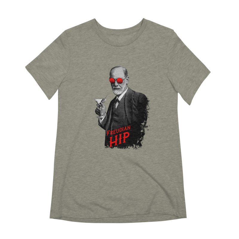 Hipster Psychologist Sigmund Freud Women's Extra Soft T-Shirt by Grandio Design Artist Shop