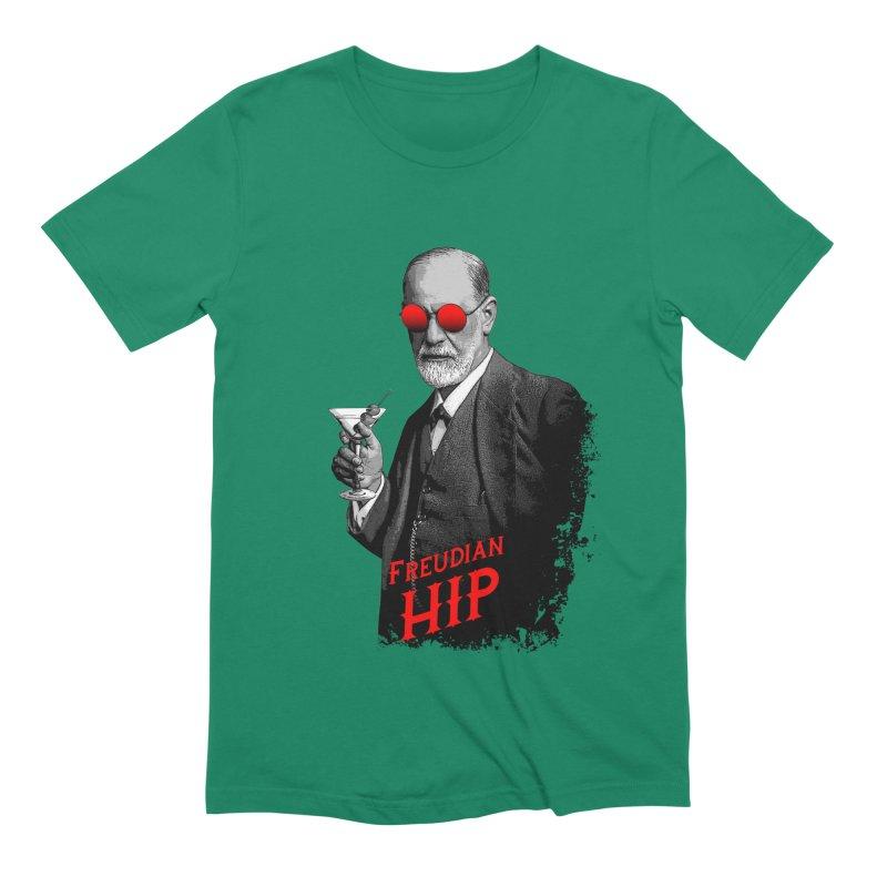 Hipster Psychologist Sigmund Freud Men's Extra Soft T-Shirt by Grandio Design Artist Shop