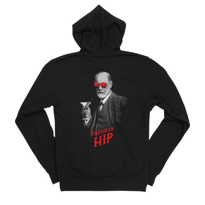 Hipster Psychologist Sigmund Freud Women's Sponge Fleece Zip-Up Hoody by Grandio Design Artist Shop