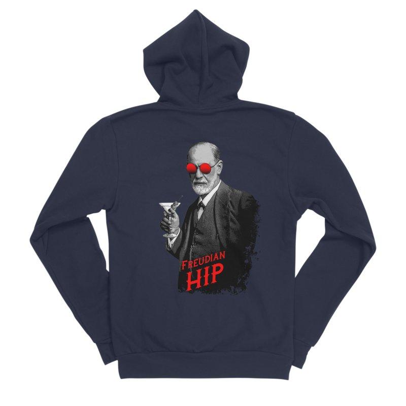 Hipster Psychologist Sigmund Freud Men's Sponge Fleece Zip-Up Hoody by Grandio Design Artist Shop