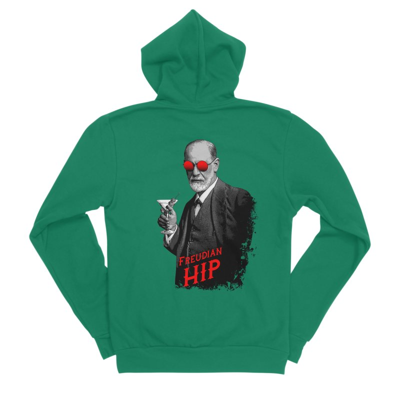 Hipster Psychologist Sigmund Freud Women's Sponge Fleece Zip-Up Hoody by Grandio Design Artist Shop